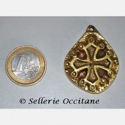 "Pendentif ""Croix Occitane"" ovale"