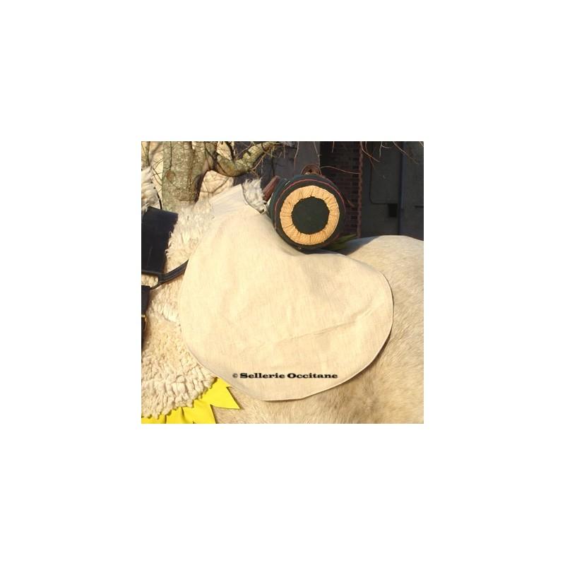 Canvas saddle knapsack