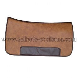 Long saddle pad sympatex leather imitation