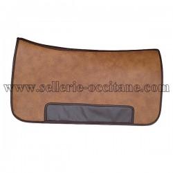 Long saddle pad sympatex leather imitation